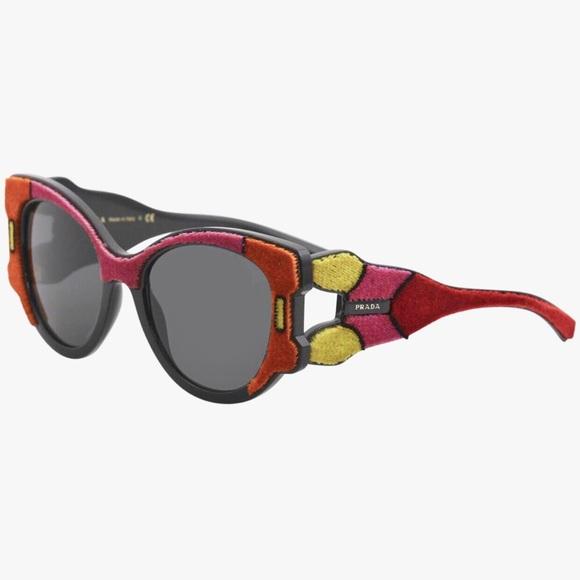 e14c6792034 PRADA Multicolored Butterfly Sunglasses NWT NWB